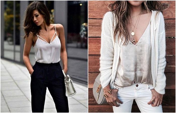 Топ в бельевом стиле является универсальным предметом гардероба