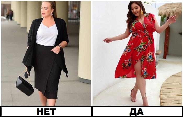 Деловые и романтичные наряды смотрятся на полненьких девушках одинаково красиво
