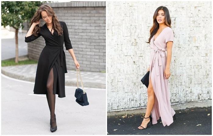 Платье с запахом обладает корректирующими свойствами