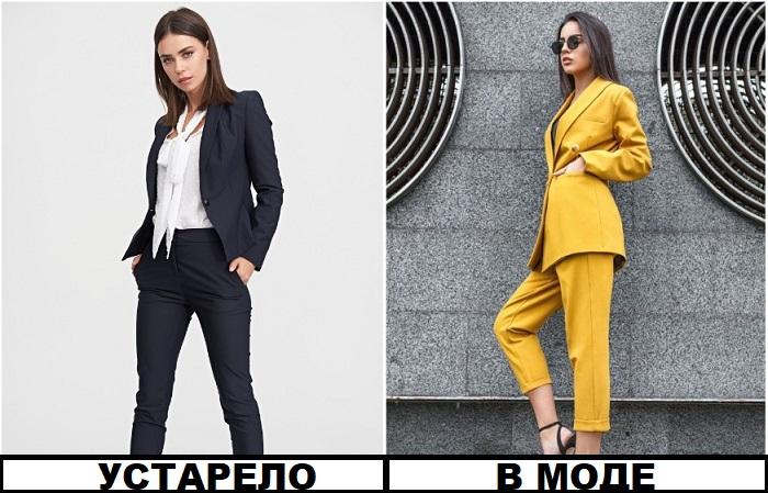 В моде яркие костюмы с удлиненным пиджаком