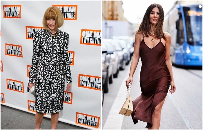 Анна Винтур советует носить платья и юбки длины миди
