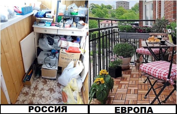 Россияне часто превращают балкон в кладовку