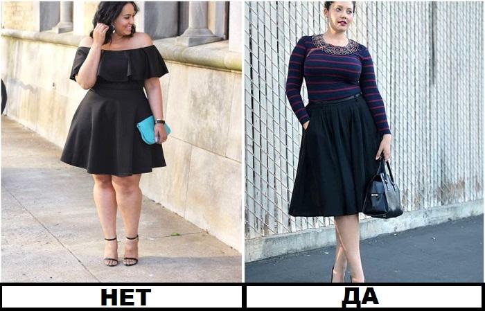 Юбки и платья должны быть ниже колена
