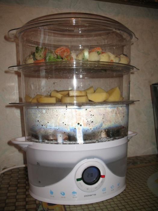 В пароварке можно готовить только диетические блюда. / Фото: nadoremont.com