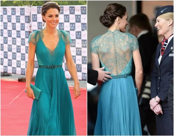 Кейт в платье от Jenny Packham