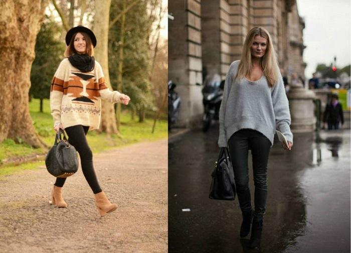 Растянутые свитера прячут фигуру. / Фото: Cutur.ru