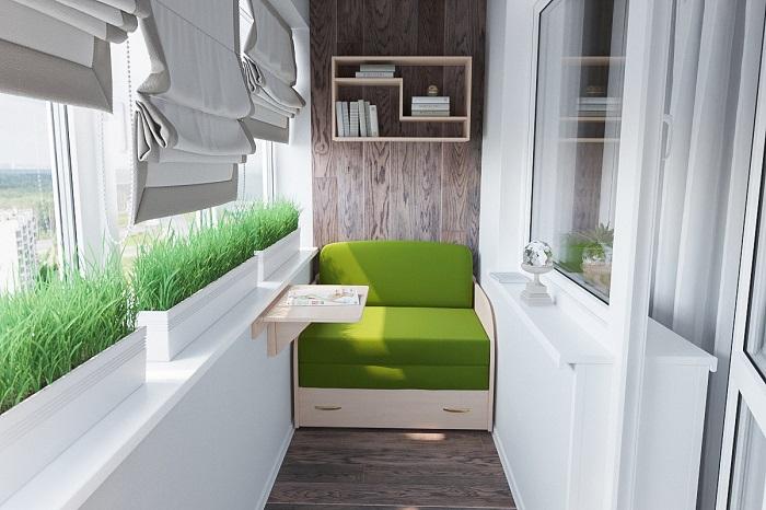 Из лоджии можно сделать любую жилую комнату, если ее хорошо утеплить. / Фото: zen.yandex.ru