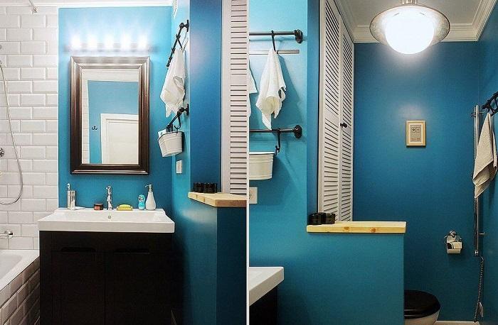 Водостойкая краска - отличный вариант для ванной. / Фото: polimarkt.ru