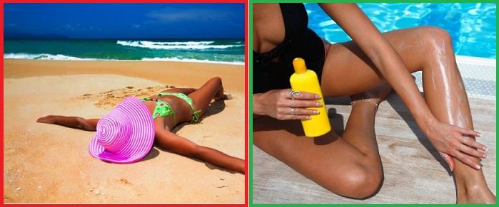 Даже загорелым людям нужно пользоваться солнцезащитным кремом