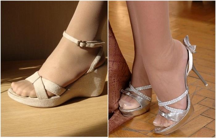 Телесные колготки в паре с открытой обувью - это моветон