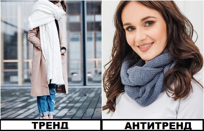 В моду вошли теплые гиперсайз-шарфы