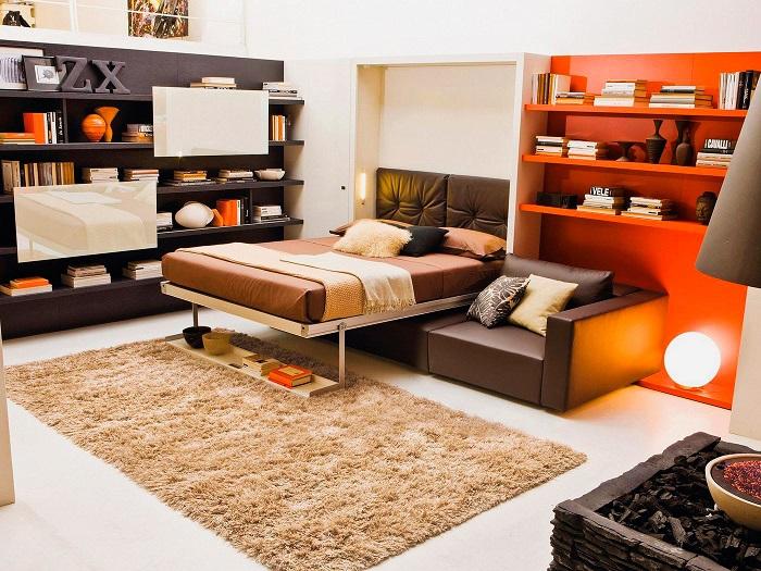 Обратите внимание на мебель 2в1. / Фото: Stroymore.ru