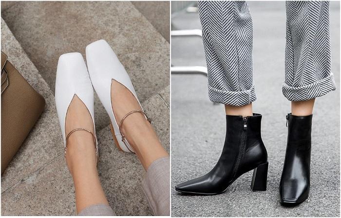 Обувь с квадратным мысом смотрится стильно