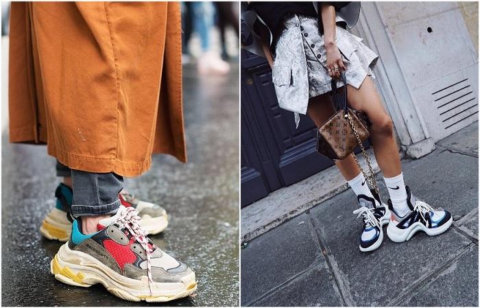 Массивные кроссовки с грубой подошвой стали популярными благодаря модному дому Balenciaga