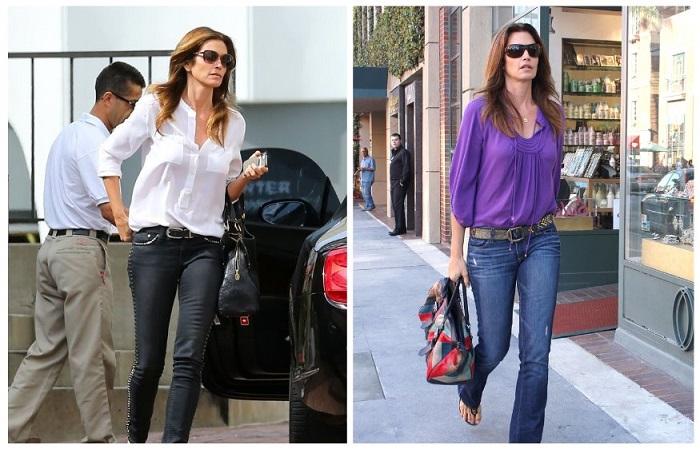 В обычной жизни Синди предпочитает обычные джинсы и рубашки свободного кроя