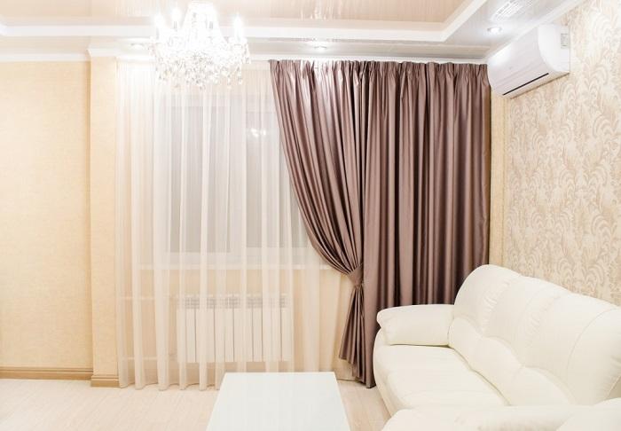 Стильные шторы сделают любой интерьер прекрасным. / Фото: vplate.ru