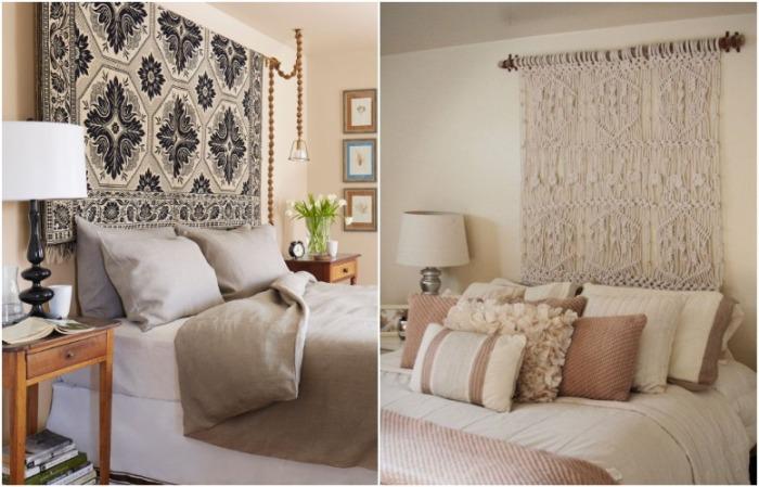 Ковер или макраме на стене сделают комнату уютнее