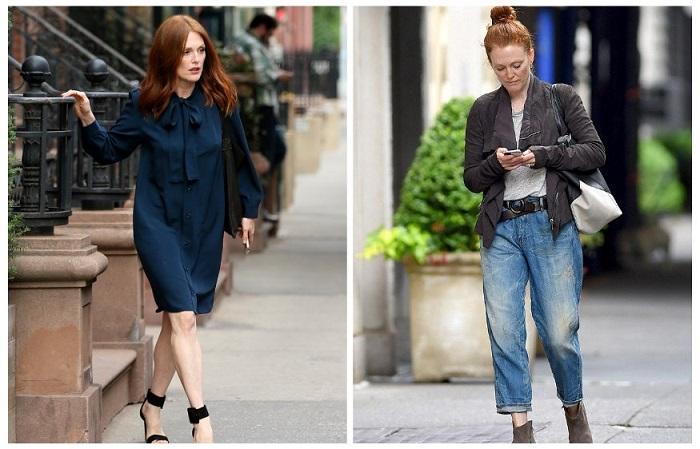 Джулианна Мур любит простую одежду и классические цвета