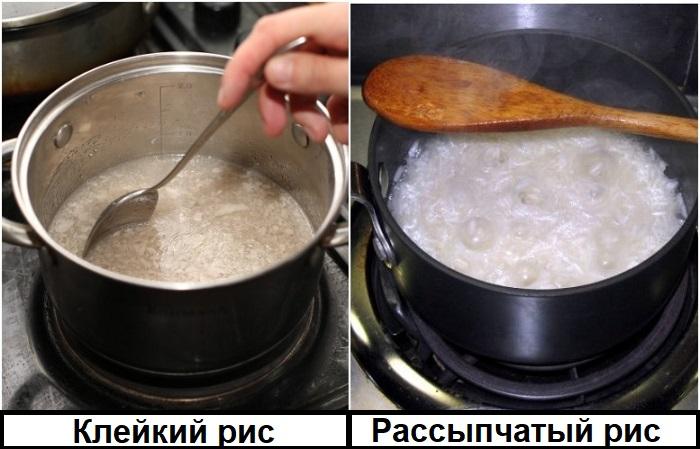 Если мешать рис, разломаются зерна и выделится крахмал