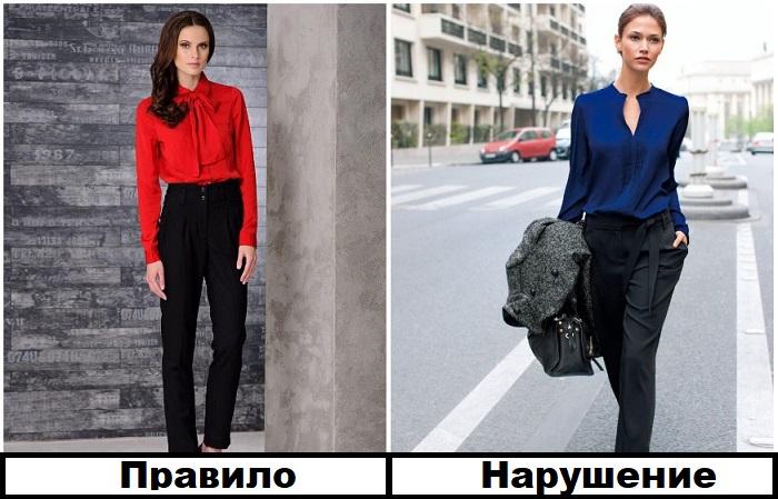 Сочетание черного с темно-синим выглядит утонченно, а с красным - устарело
