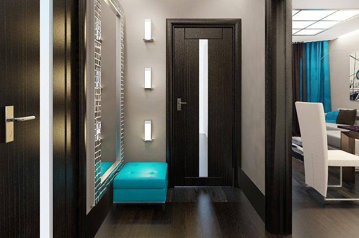 Двери в тон темного пола делают интерьер мрачным. / Фото: pinterest.com