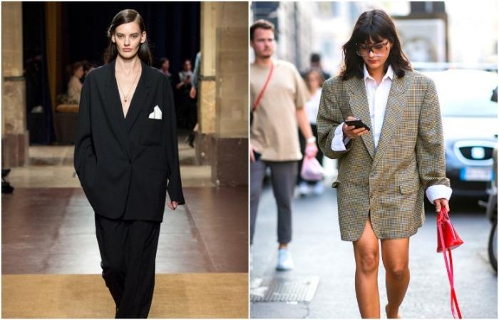 В пиджаке на несколько размеров больше можно потеряться