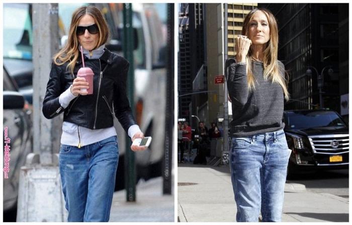 Сара неравнодушна к джинсам-бойфрендам
