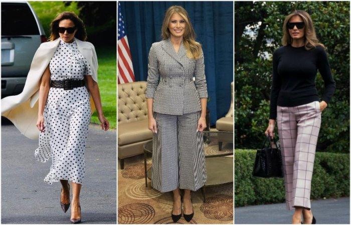Мелания Трамп предпочитает женственные и деловые наряды