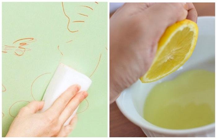 Лимонная кислота подходит для виниловых обоев