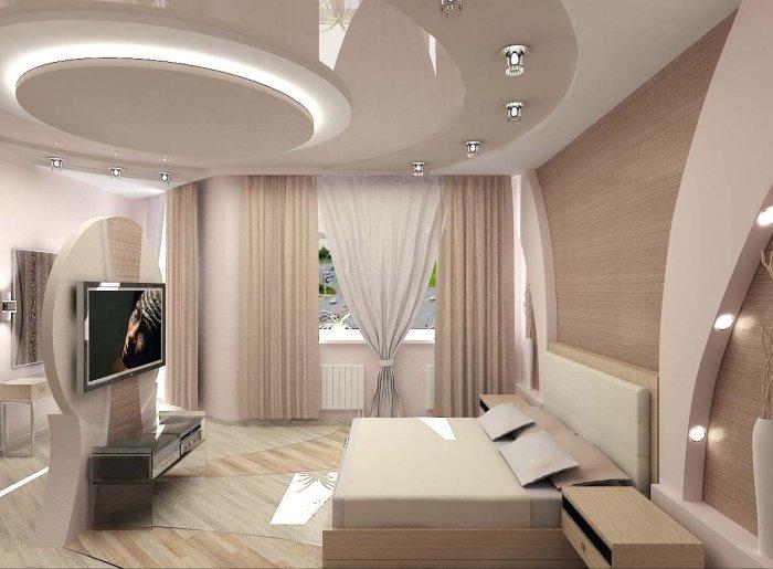 Многоуровневые потолки сужают пространство и лишают его легкости. / Фото: dekoriko.ru