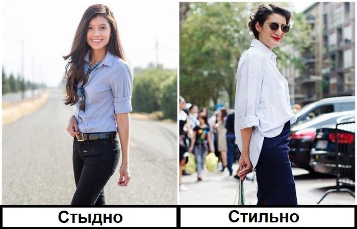 Приталенную рубашку стоит заменить в гардеробе моделью оверсайз