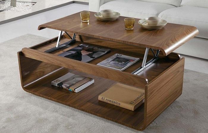 Столи с откидной крышкой выполняет множество разных функций. / Фото: dekoriko.ru