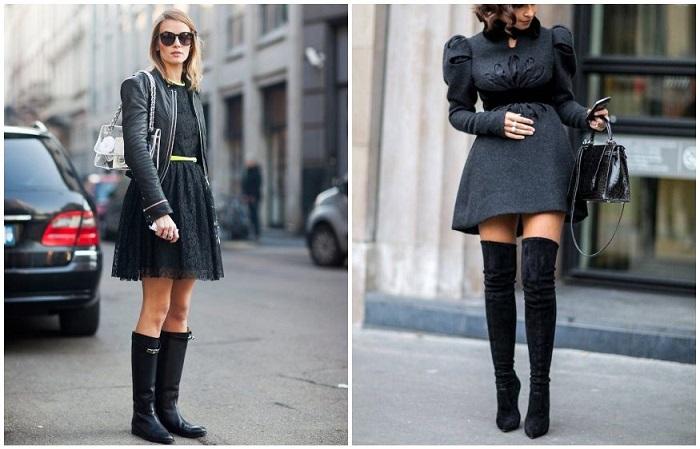 В России носят сапоги до колена, а в Европе - выше колена