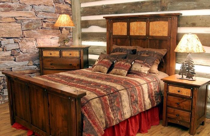 Спальня в стиле рустик. / Фото: Zen.yandex.com