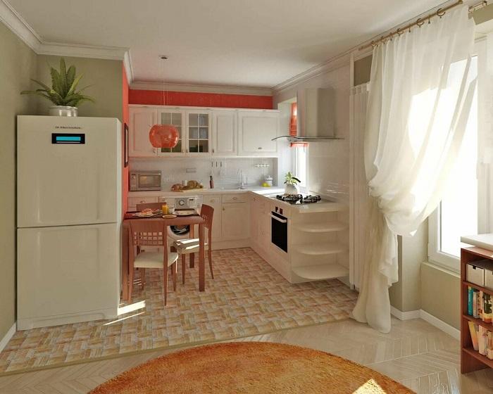 Объедините кухню с гостиной. / Фото: Dizainexpert.ru