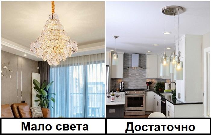 Светильников в интерьере должно быть несколько