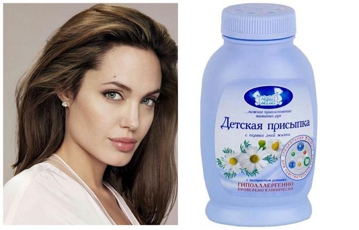 Анджелина Джоли советует использовать детскую присыпку вместо сухого шампуня
