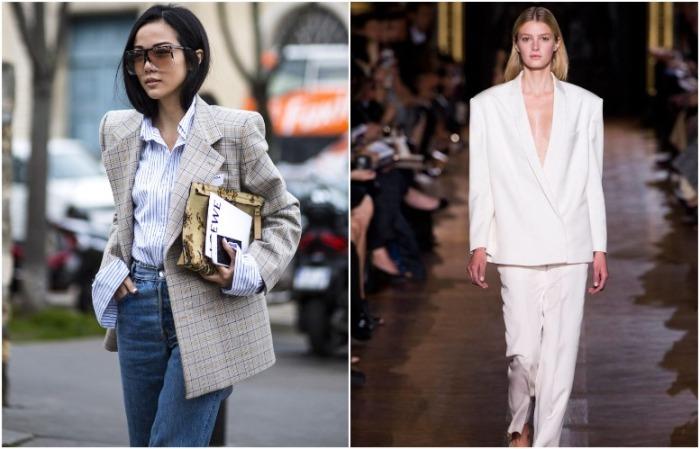 В моде как однотонные пиджаки, так и модели с принтом