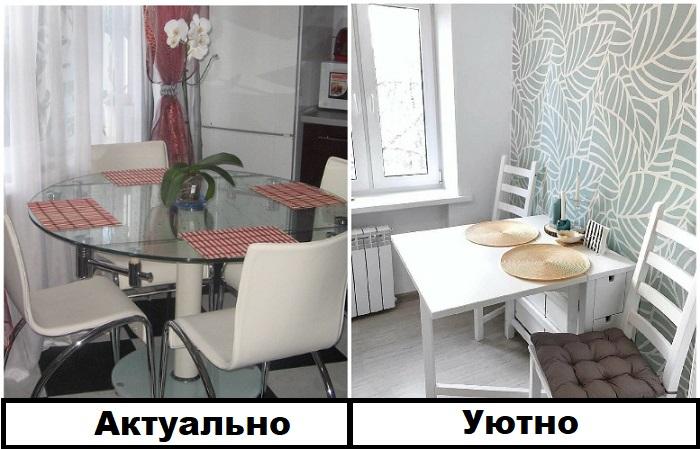 На стеклянных столах видны различные загрязнения