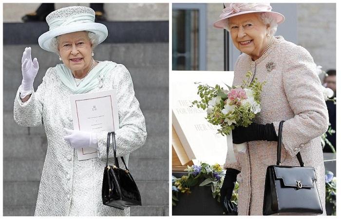 Королева Елизавета II с сумкой от британского бренда Launer