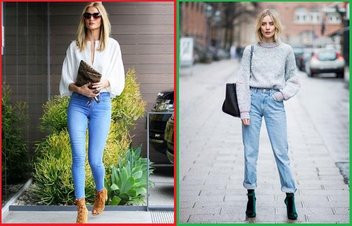 Скинни, в отличие от прямых джинсов, идут не всем