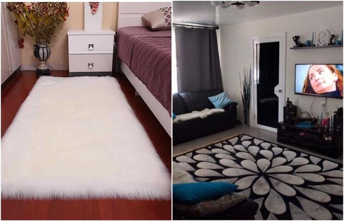 Размер ковра зависит от площади комнаты