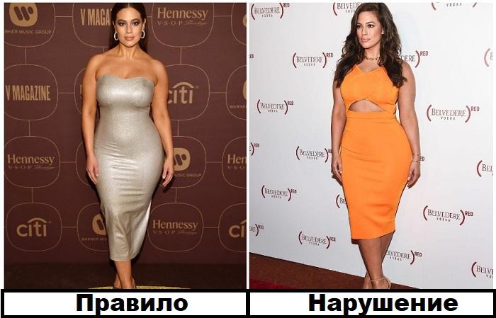 """Платье Эшли Грэм слишком обтянуло тело, несмотря на """"ее"""