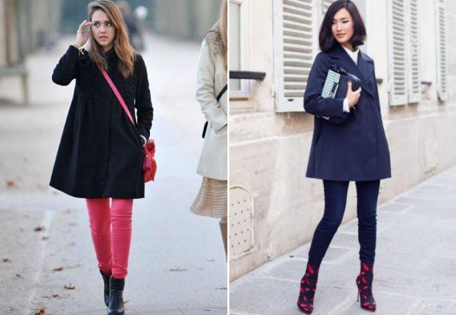 Образы с лаконичными пальто в форме трапеции. / Фото: Womanadvice.ru