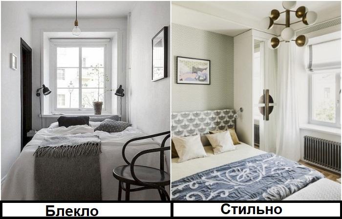 Белый интерьер лучше смотрится с яркими акцентами, например, шторами