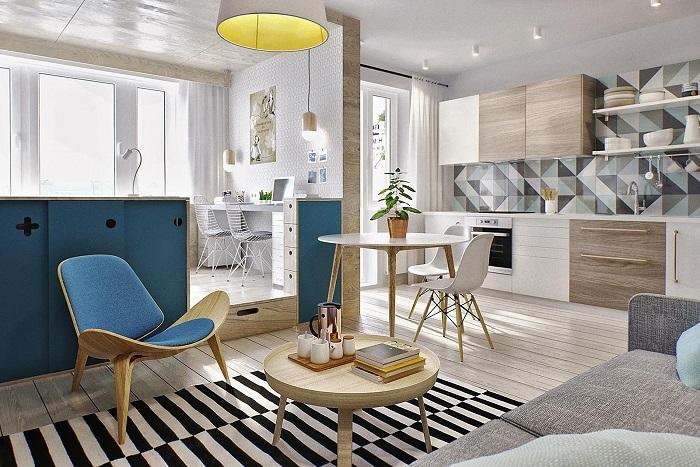 Квартира оформлена в едином стиле. / Фото: desvinter.ru