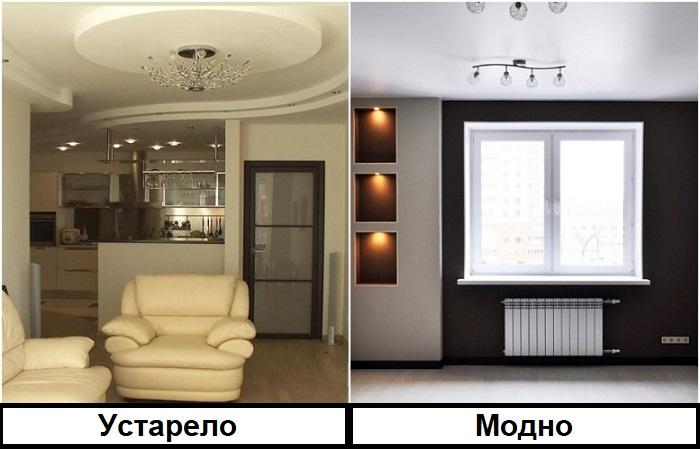 Многоярусные потолки лучше заменить на натяжные матовые