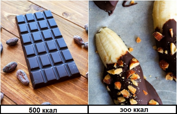 Растопите кусочек шоколада и полейте банан