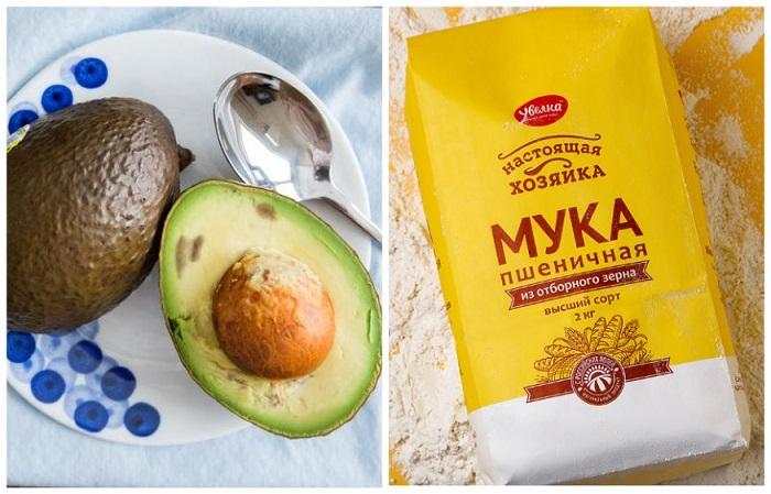 Чтобы авокадо дозрел, положите его на сутки в пакет с мукой
