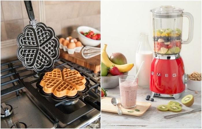 Вафельница и блендер существенно упростят процесс готовки